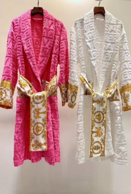 WHITE - VERSACE BAROQUE BATHROBE